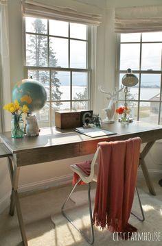 Master Bedroom Office office in master bedroom, cost plus campaign desk   best of