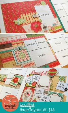 Four new kits by Debbie Sanders Scrapbook Designs, Scrapbook Sketches, Scrapbook Page Layouts, Scrapbook Cards, Scrapbooking Ideas, Diy And Crafts, Arts And Crafts, Paper Crafts, Bucket List Quotes