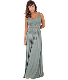 Schlichtes Empire-Kleid 7091 (Medium-Large,Khaki)