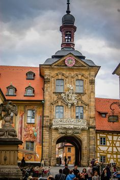 Altes Rathaus Portal, Bamberg, Germany