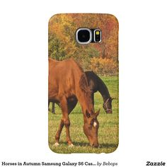 Horses in Autumn Samsung Galaxy S6 Cases.  Available on other popular brand name cases too.