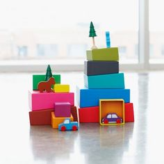 MOMA Topsy-Turvy Stacking Blocks