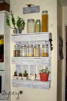 Wall shelves from Pallets