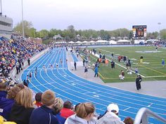 Drake Track. The blue color, the fact that students actually attend a track meet, the way it feels under your feet...