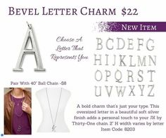 Bevel Charm Necklace!