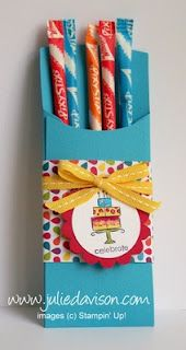 Julie's Stamping Spot -- Stampin' Up! Project Ideas Posted Daily: Petite Pocket Birthday Treat