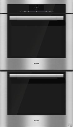 "Miele H6780BP2 30"" Double Electric Wall Oven with 4.6 cu. ft. Capacity Ovens, M Touch Controls, 19 Operating Modes, 6 PerfectClean Racks, 100 MasterChef Programs, Sabbath Program and Roast Probe"