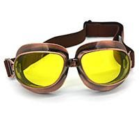 2a75a13f2ead Vintage Scooter Motorcycle Goggle Glasses Cycling Goggles Pilot Motorbike  Goggles Retro Jet Helmet Eyewear Silver Copper