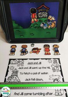 Nursery Rhyme Activity Pack - Jack & Jill Theme by teachingtalking.com