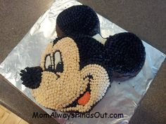 How to make a Mickey Mouse cake (also works for Minnie Mouse).