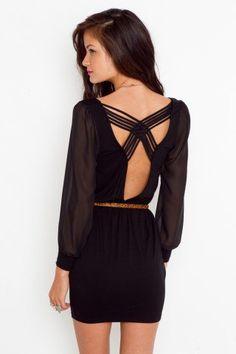 Lily Lattice Dress - Black - NASTY GAL