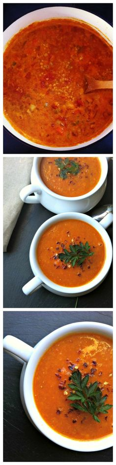 Red Lentil Coconut Soup -- a warm, rich soup full of flavor and freezes great // A Cedar Spoon
