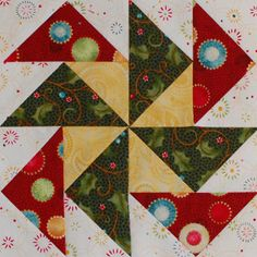 Jingle Applique and Pieced Quilt Pieced Block 4 free download on One Piece at a Time at http://erinrussek.typepad.com/one-piece-at-a-time/2013/06/jingle-pieced-block-4.html