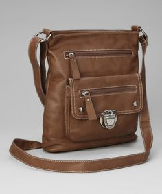 Take a look at this Brown Shirley Crossbody Bag by Patzino on #zulily today!