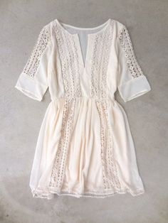 Crochet Ivory Paths Dress