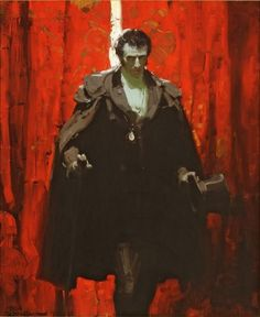 Mead Schaeffer - Kelly Collection American Illustration Art The Count of Monte Cristo 1928 Oil on canvas, 32 inches x 26 inches The Count of Monte Cristo, Alexandre Dumas, NY: Dodd Mead & Co, cover and p. Art And Illustration, American Illustration, Traditional Paintings, Traditional Art, Painting Inspiration, Art Inspo, Vampires, Dean Cornwell, Robert Mcginnis