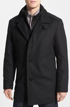 BOSS HUGO BOSS 'Coxtan' Wool Blend Overcoat available at #Nordstrom