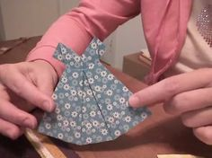 Homemade Origami Card to Make - Cute Dress Design with Video Instructions