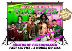Zombie Disney, Zombie 2, Disney Halloween Parties, Zombie Birthday Parties, Halloween Party, Banner Digital, Digital Invitations, Zombie Wallpaper, Banner Backdrop