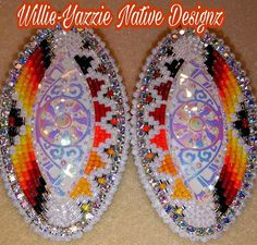 Native American - Native American Indian culture and messages - Beaded Earrings Native, Beaded Earrings Patterns, Native Beadwork, Native American Beadwork, Bead Earrings, Powwow Beadwork, Indian Beadwork, Bracelet Patterns, Native Beading Patterns