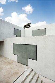Das neue Meisterhaus Gropius, Bruno Fioretti Marquez Architekten 2010–2014, Terrasse. Foto: Sebastian Gündel, 2014, Stiftung Bauhaus Dessau