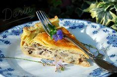 Tourte aux champignons et fromage d'Abondance - La cuisine de Doria