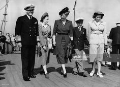 Prince Olav of Norway, Princess Ragnhild, Prince Harald, Princess Martha and Princess Astrid arrive for the opening of the Olympic Games,on July 28, 1948 in London, United Kingdom. (Photo by Keystone-France/Gamma-Keystine via Getty Images)