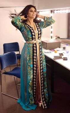 Siham Elhabti Morrocan Dress, Moroccan Caftan, Long Gown Dress, Caftan Dress, Arab Fashion, Muslim Fashion, Caftan Gallery, Morocco Fashion, Indian Gowns Dresses