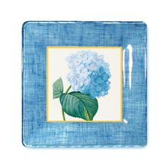 Hydrangea Botanical Print / Decoupage Plate by GlassPaperScizzors, $89.00