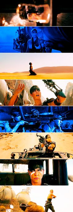 Imperator Furiosa in Mad Max: Fury Road - Imperator Furiosa is who I want to be when I grow up... Either her or the flame throwing warboy guitarist...