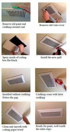 Custom Grill Covers, Air Registers, Vent Covers: Grill Installation - Air Registers How to Install in your home Home Improvement Projects, Home Projects, Home Renovation, Home Remodeling, Air Vent Covers, Home Decoracion, Pinterest Home, Diy Home Repair, Home Upgrades