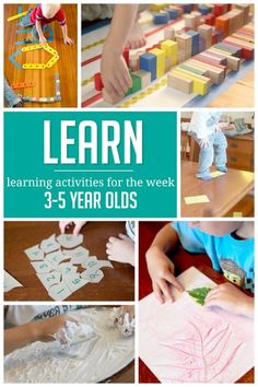 A week of simple learning activities to do with preschoolers