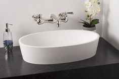 Oval Solid Surface Acrylic Vessel Sink