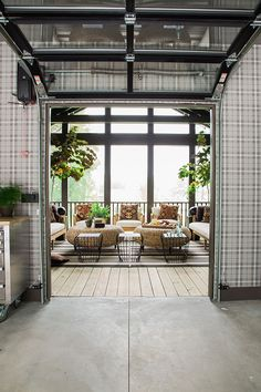 Glass Garage Door From Inside The Garage Screened Porches, Outdoor Living  Spaces, Highlight,