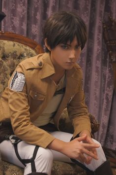 Wow. Look at that Eren Jaeger cosplay....