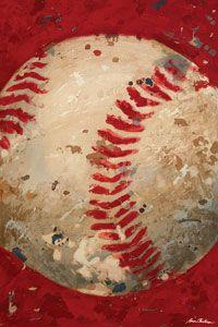 Baseball wall art for boys vintage baseball/circus room