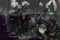 Warhammer 40k Art, Warhammer Fantasy, Fantasy Warrior, Sci Fi Fantasy, Salamanders Space Marines, Deathwatch, Angel Of Death, New Art, Character Art