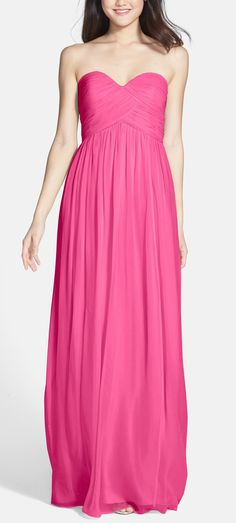 Silk Chiffon gown for the bridesmaids.