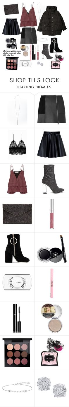 """""""Late night after party purge 🍷🎉🃏"""" by characters-designer ❤ liked on Polyvore featuring Alexander Wang, Anine Bing, MSGM, Apiece Apart, Rebecca Minkoff, Off-White, Chanel, MAC Cosmetics, Etude House and TheBalm"""
