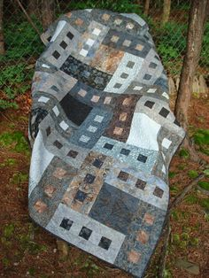 Hey, I found this really awesome Etsy listing at https://www.etsy.com/listing/191610250/gray-and-brown-batik-twin-bed-quilt