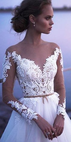 Today, we offer top wedding dresses for your inspiration. Discover an exciting selection of the most popular bridal gowns. Top Wedding Dresses, Wedding Dress Chiffon, Wedding Dress Accessories, Wedding Dress Sleeves, Lace Wedding, Gown Wedding, Mermaid Wedding, Wedding Bodysuit, Illusion Neckline Wedding Dress