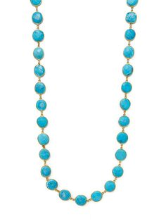 Turquoise Station Necklace by Mary Louise Designs at Gilt