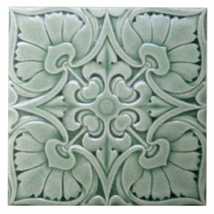 We can re-created these antique Art Nouveau, Art Deco and Victorian relief ceramic tiles for you. You get the three dimensional look of the original collector relief tiles but on a flat smooth surface satin finish tile.