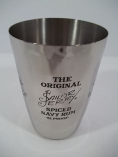 "THE ORIGINAL SAILOR JERRY Spiced Rum Stainless Cup -""Stewed & Tattooed"" ALOHA! #SailorJerry"