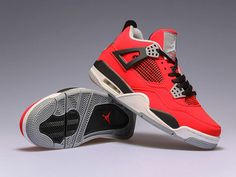 size 40 20270 feca8 Jordan Retro 4 IV Toro Bravo Fire Red Black Cement 308497-603,Price  48