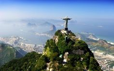 Visiting Christ the Redeemer ft.) in Corcovado, Rio de Janeiro, Brazil Places Around The World, Travel Around The World, Around The Worlds, Beautiful Places In The World, Amazing Places, Places To Travel, Places To See, Travel Destinations, Holiday Destinations
