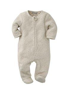 Overall für Babys aus Teddyfleece WOLLWEISS