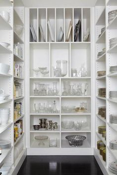 Organization kitchen pantry