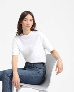 The Oversized Pocket Tee - Everlane Sustainable Clothing Brands, Bell Sleeve Top, Women's Tees, V Neck, T Shirts For Women, Tank Tops, Essentials, Pocket, Clothes