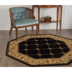 Superior Horizons Collection Area Rug 4 x 6 Abstract Striped Rug Attractive Rug with Jute Backing Durable and Beautiful Woven Structure